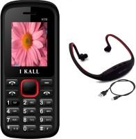 I Kall K55 with MP3/FM Player Neckband(Black & Red) Black & Red