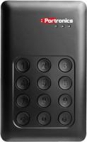 Portronics 500 GB Wired External Hard Disk Drive(Black) Black