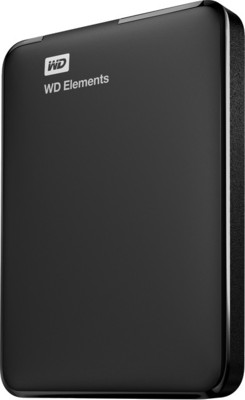 WD Elements 2.5 inch 500 GB External Hard Drive(Black) Black