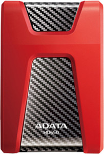Adata HD650 1 TB External Hard Disk Drive(Red) Red