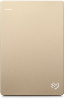 Seagate Backup Plus Slim 1 TB Wired External Hard Disk Drive(Gold) Gold
