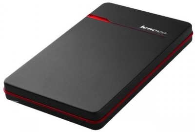 Lenovo Slim 1 TB Wired External Hard Disk Drive(Black) Black